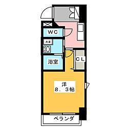 コモレビスクエア大須[6階]の間取り