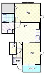 新潟県村上市飯野西の賃貸アパートの間取り