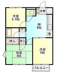 ディアコート開成A棟[2階]の間取り