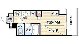 (仮称)キャンパスヴィレッジ京都西京極[1階]の間取り