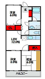 ドリームリマ[2階]の間取り
