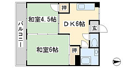 第一白石ビル[303号室]の間取り