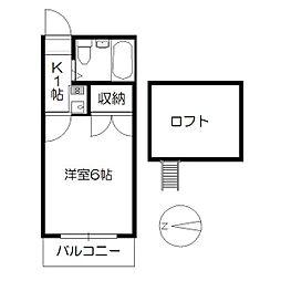 MIYATO[205号室]の間取り