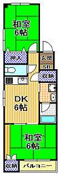 ハイツイルロゼオ[3階]の間取り