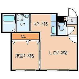 GLASS N21[2階]の間取り