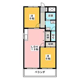 K&K高峯[4階]の間取り