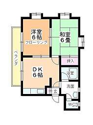カネカ坂本第6マンション[201号室]の間取り