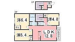 シャーメゾン水足A[2階]の間取り