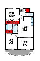 第23川崎ビル[602号室]の間取り