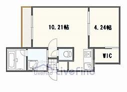 札幌市営東西線 南郷13丁目駅 徒歩7分の賃貸マンション 4階1LDKの間取り