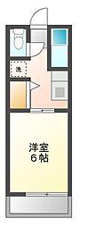 静岡県静岡市葵区瀬名川1丁目の賃貸アパートの間取り