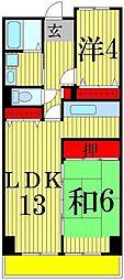 フレール綾瀬1[2階]の間取り