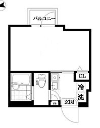 東京都品川区南大井4丁目の賃貸マンションの間取り