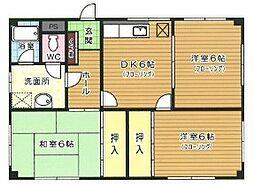 コーポ安田[1階]の間取り