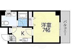 Osaka Metro谷町線 都島駅 徒歩8分の賃貸マンション 4階1Kの間取り
