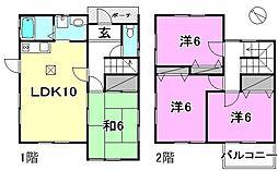 [一戸建] 愛媛県松山市上高野町 の賃貸【/】の間取り