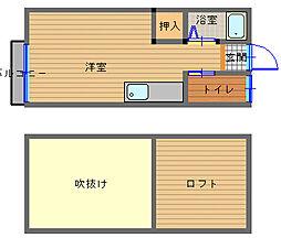 長崎県長崎市下町の賃貸アパートの間取り