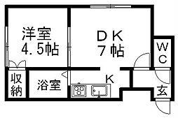 北海道札幌市南区澄川三条2丁目の賃貸アパートの間取り