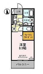 仮称)竹田向代町D-room[103号室号室]の間取り