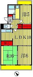パークハイツ胡録台[3階]の間取り