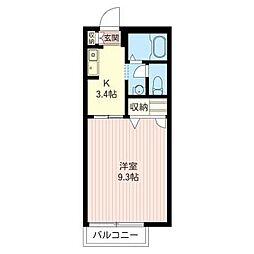 ピュア シャトレ[1階]の間取り