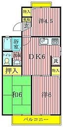 ロイヤルタウン泉CD[D105号室]の間取り