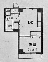 ラ・メール横浜[302号室]の間取り