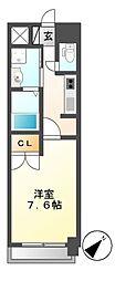 メゾンドガスパール名駅[5階]の間取り