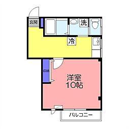 カサフローラ勝田台[203号室]の間取り