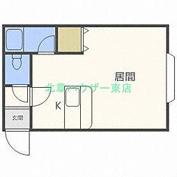 北海道札幌市東区北二十七条東12の賃貸アパートの間取り