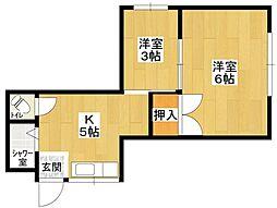 新町ハウス[303号室]の間取り