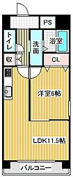 愛知県名古屋市港区油屋町2丁目の賃貸マンションの間取り