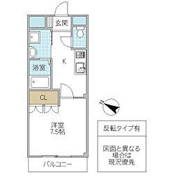 Arcadia TSUKUBA[301号室号室]の間取り