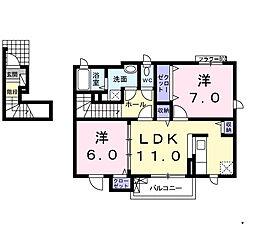 カルムミニヨン[2階]の間取り