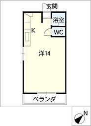 Verede桃山[3階]の間取り