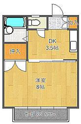 ミヤコ津雲台マンション[43C号室]の間取り