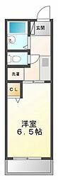 兵庫県西宮市甲子園四番町の賃貸アパートの間取り