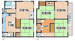 [一戸建] 兵庫県神戸市長田区上池田3丁目 の賃貸【/】の間取り