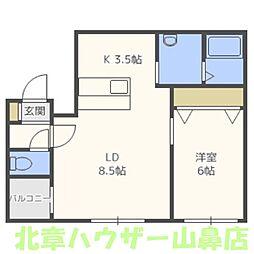 カーサフェリーチェ行啓通[5階]の間取り