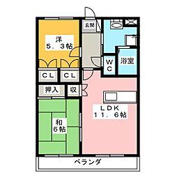 シャインエトワール[1階]の間取り