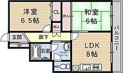 京阪四ノ宮アバンギャルド[201号室号室]の間取り