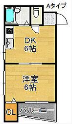 メゾンフルーレ[1階]の間取り