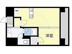 西鉄天神大牟田線 西鉄平尾駅 徒歩15分の賃貸マンション 5階1DKの間取り