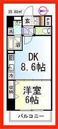 DKペドラ・リオ III[902号室]の間取り