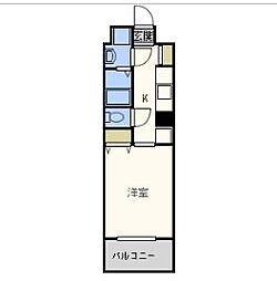 トゥールロワイエ北梅田[7階]の間取り