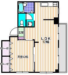 アネックス永山[2階]の間取り