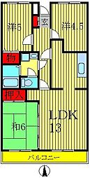 ガーデンフォレスト柏の葉キャンパス[3階]の間取り