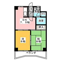 アーク宝地[3階]の間取り