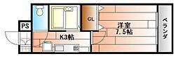 ルネッサンスTOEI田町[4階]の間取り