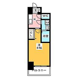 S−RESIDENCE四日市元町 12階1Kの間取り
